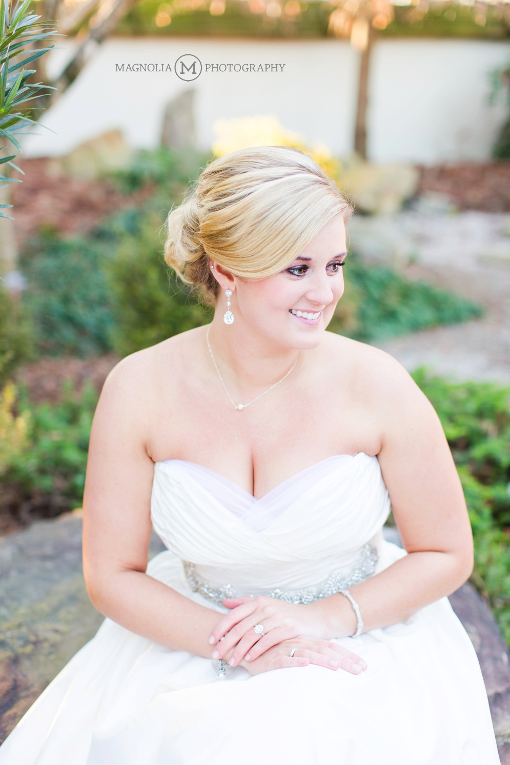 Wedding Dress Bride In Garden Nc