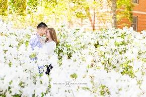 engagement session white azaleas