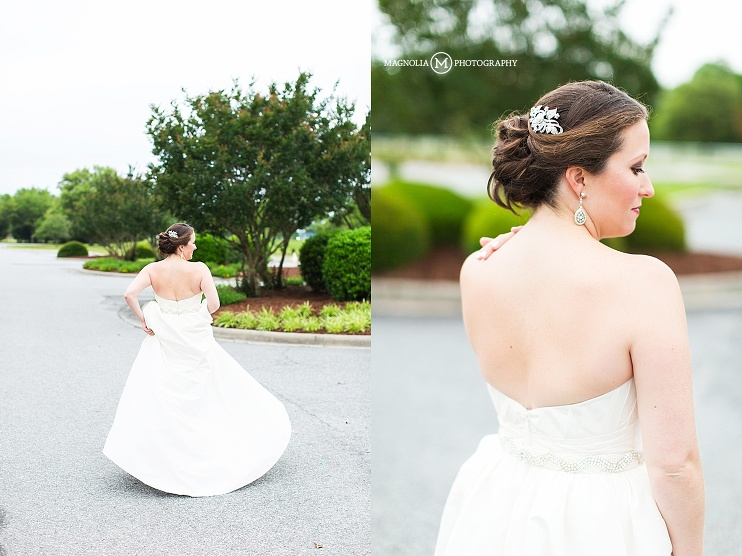 bridal hair detail